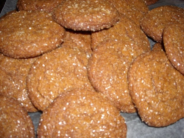 These ginger cookies are packed full of ginger flavor! If you want a ginger cookie that packs a punch these are perfect for your holiday spread!