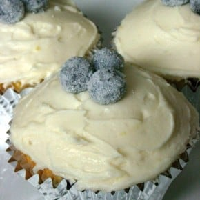 These lemon blueberry cupcakes are perfect balance of sweet and tart. Topped with lemon buttercream and homemade sparkly sugared blueberries.
