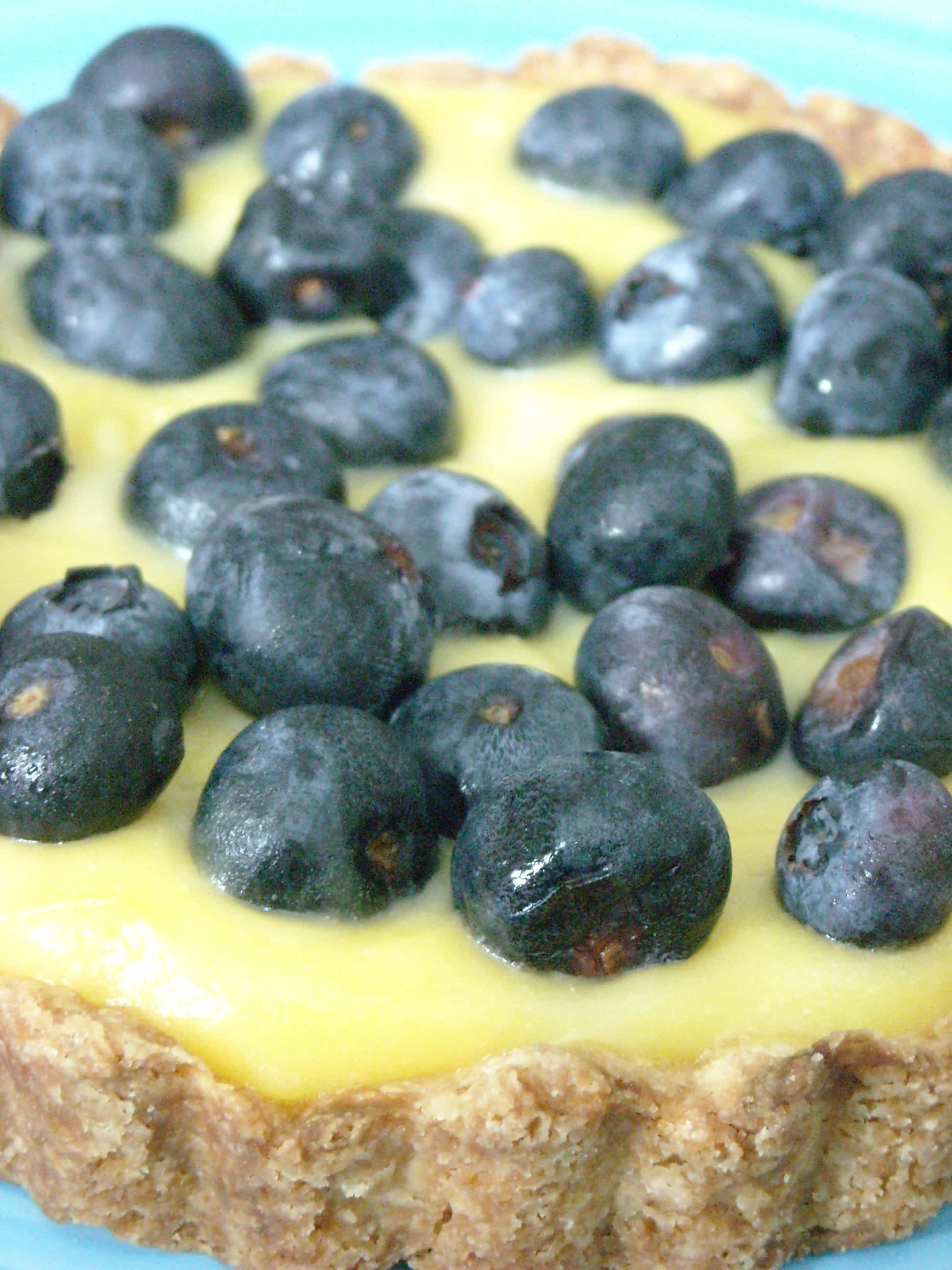 White Balsamic Custard Tart with Blueberries by Nutmeg Nanny