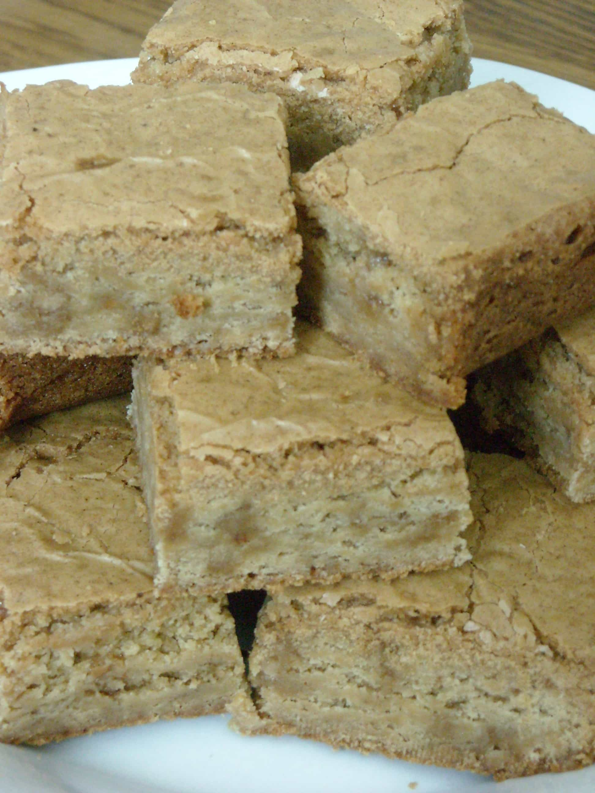 Brown Butter Toffee Blondies by Nutmeg Nanny