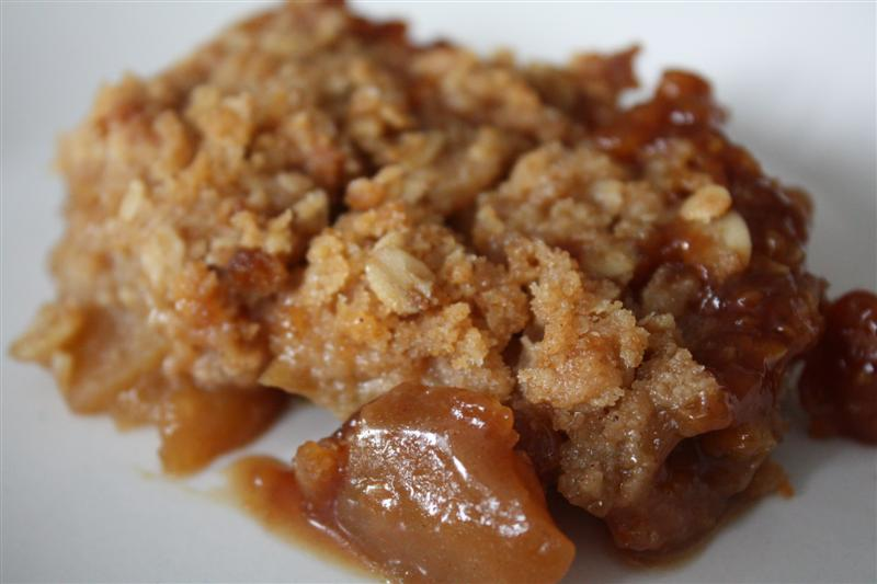 Caramel Apple Crisp by Nutmeg Nanny