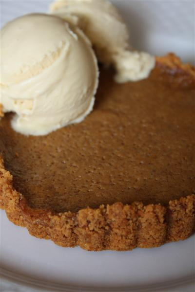 Coconut Spice Pumpkin Pie by Nutmeg Nanny