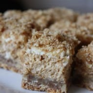 Pumpkin Cheesecake Crumble Squares by Nutmeg Nanny