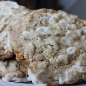 Iced Oatmeal Applesauce Cookies by Nutmeg Nanny