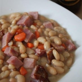 Easy Ham and Bean Soup by Nutmeg Nanny