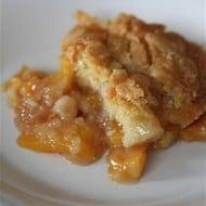Frozen Peach Cobbler by Nutmeg Nanny