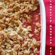 Strawberry Rhubarb Crisp by Nutmeg Nanny