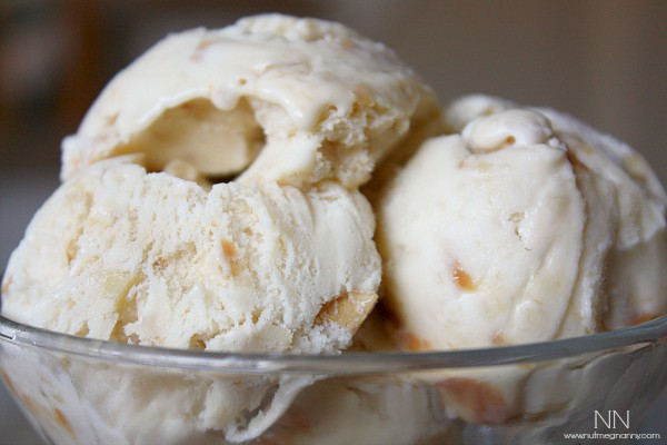 Banana Cajeta Cashew Ice Cream by Nutmeg Nanny