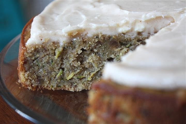 This super simple zucchini pecan cake with cinnamon cream cheese frosting is perfect for using up all that summer zucchini. So easy and so delicious!