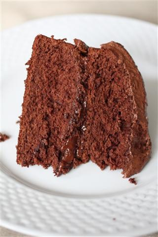 This double chocolate Kahlua cake is packed full of deep chocolate flavor and jazzed up with Kahlua liqueur. This is the cake for chocolate lovers!