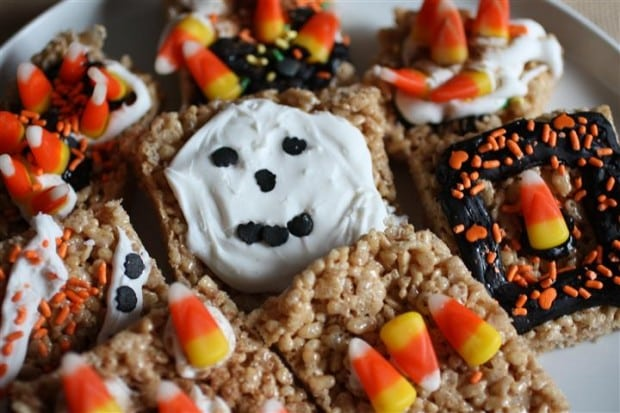 Pumpkin Pie Spice Rice Krispie Treats by Nutmeg Nanny