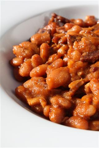 Maple Baked Beans by Nutmeg Nanny