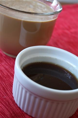 This homemade gingerbread syrup is packed full of molasses filled dark brown sugar, ginger and star anise. It's perfect in coffee or in homemade lattes.