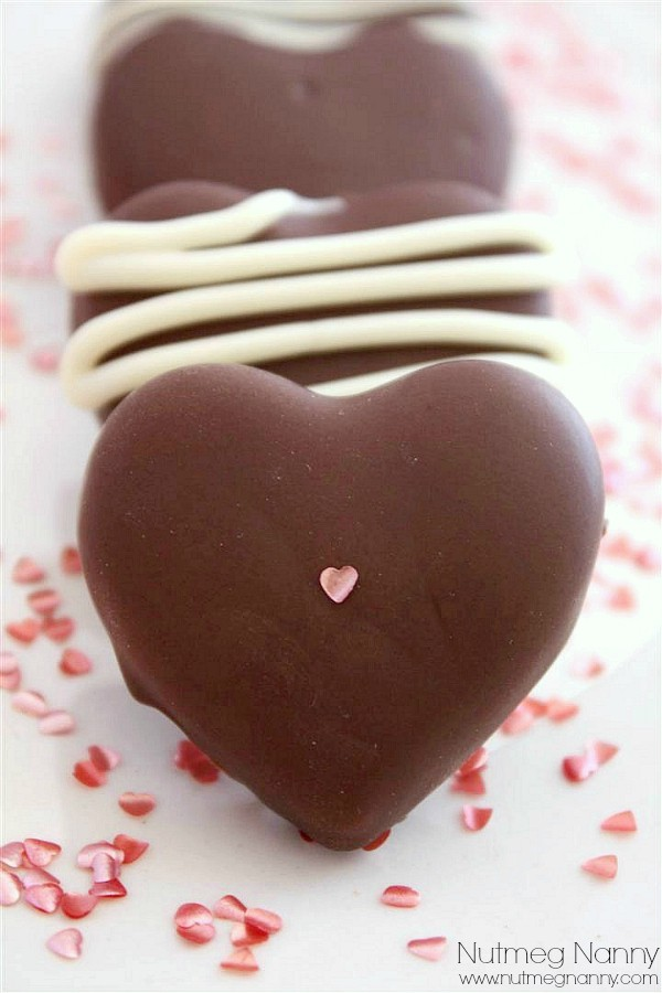 These chocolate covered marzipan hearts are perfect for Valentine's Day. Impress your sweetie with some delicious homemade candy.