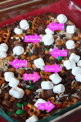 These everything brownies are packed with leftover candy, marshmallows, coconut, pretzels, caramel and chocolate chips! You'll love these easy sweet brownies.