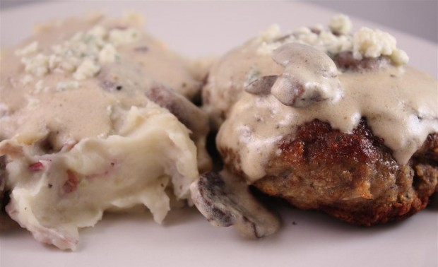 This veal and sage meatloaf with gorgonzola cream sauce is the perfect twist to your typical meatloaf dinner. Full of flavor and perfect when served with creamy mashed potatoes. You'll love this meal!