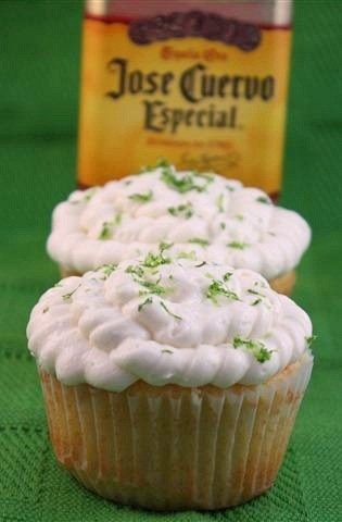 These margarita lime curd filled cupcakes are a drink in dessert form. Packed full of flavor, filled with homemade lime curd and topped with lime zest frosting.
