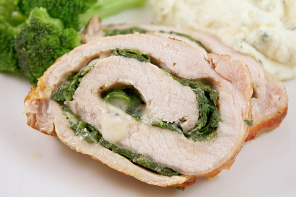 Rolled Pork Florentine by Nutmeg Nanny