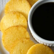 This fried cornmeal mush is the perfect midwest breakfast. Delicious firm cornmeal (or you might call it polenta) is lightly fried in butter and drizzled with maple syrup. So incredibly simple and totally delicious.