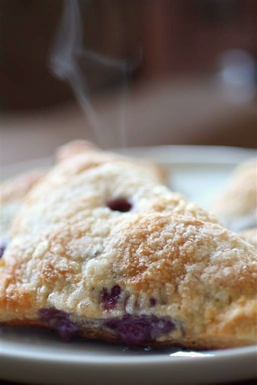 Blueberry Mascarpone Turnovers by Nutmeg Nanny