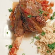 These delicious braised lamb shanks are a complete takeout fake-out type of meal! Delicious braised lamb can be served with couscous, rice or even quinoa. Plus, it's so much cheaper to make lamb at home!