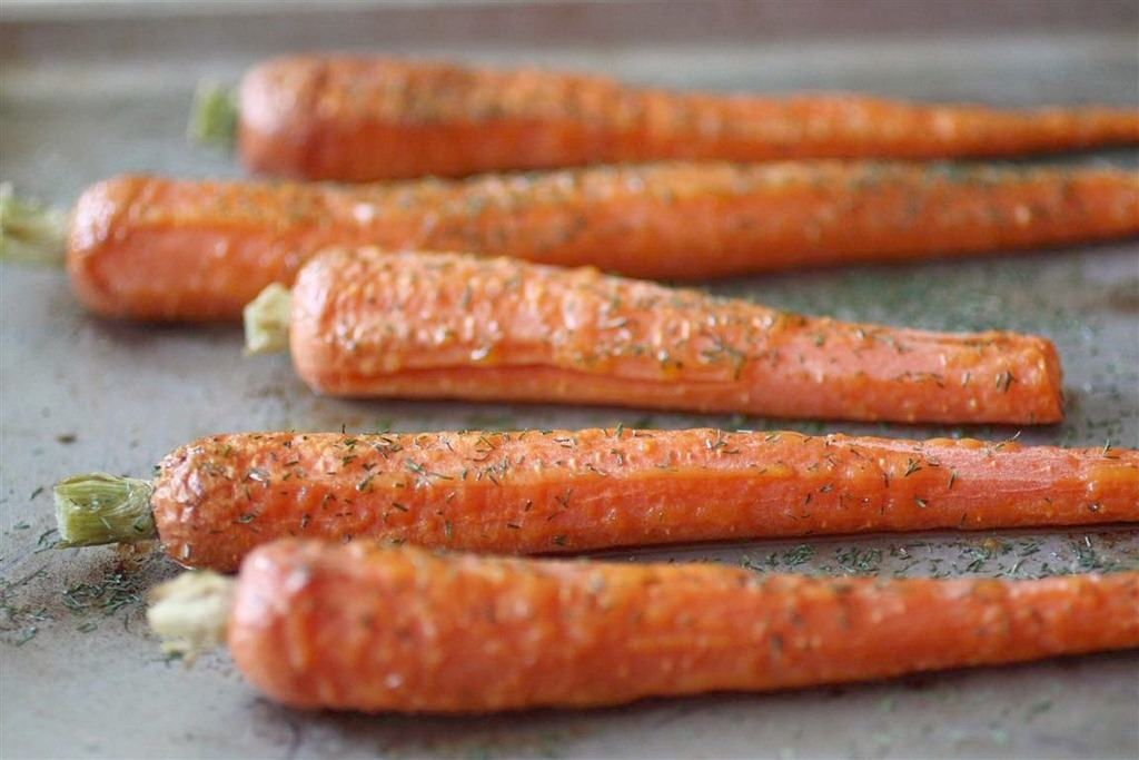 Roasted Carrots with Dill by Nutmeg Nanny
