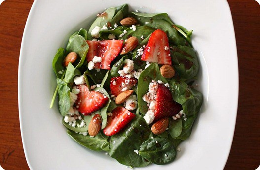 Spinach-Strawberry-Goat-Cheese-Salad-with-Pomegranate-Viniagrette-1 ...