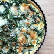 Swiss Chard, Leek and Gruyere Quiche by Nutmeg Nanny