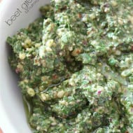 Beet Green Pesto by Nutmeg Nanny