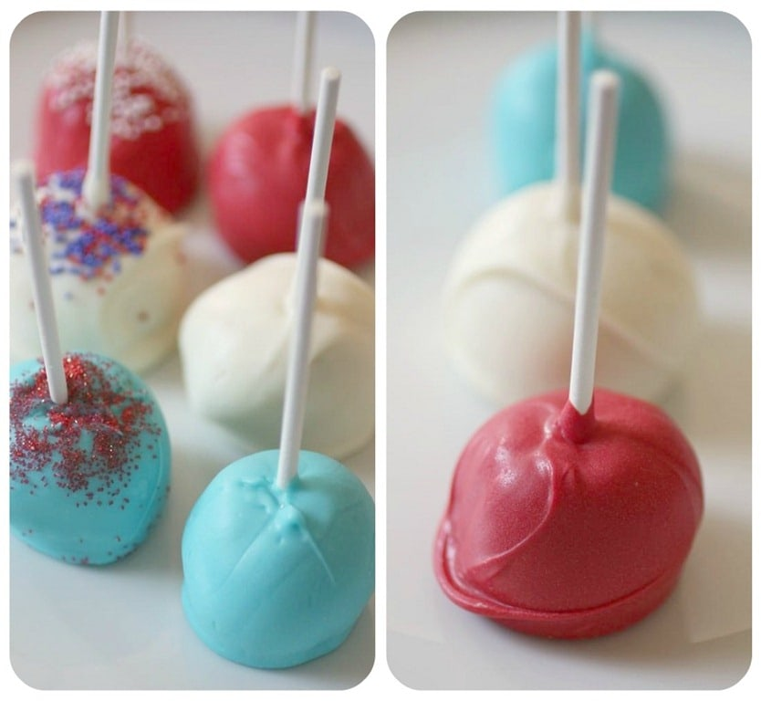 Red, White and Blue Cake Pops by Nutmeg Nanny