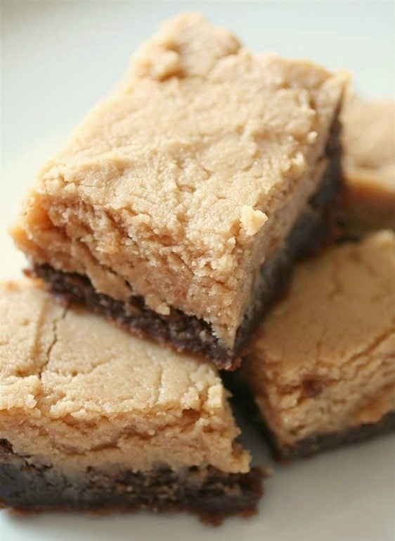 Peanut Butter Frosted Nutella Brownies by Nutmeg Nanny