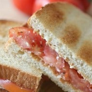 Summertime Tomato Sandwich by Nutmeg Nanny