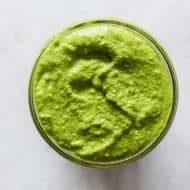 This homemade garlic scape pesto is perfect for pasta, pizza, sandwiches or on top of homemadevegetable soup. It packs TONS of flavor and is made right in your Vitamix, regular blender or food processor.