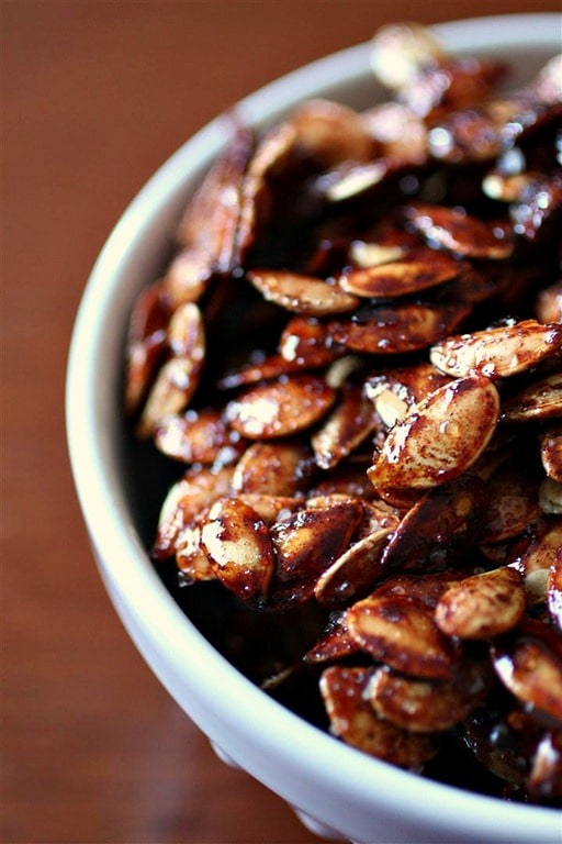 Sweet Salty Roasted Pumpkin Seeds by Nutmeg Nanny