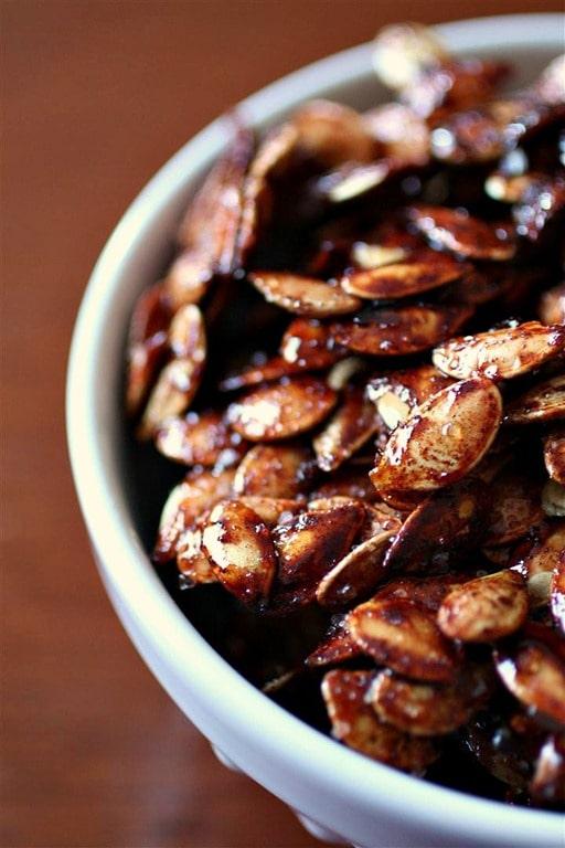 Sweet Salty Roasted Pumpkin Seeds by Nutmeg Nanny