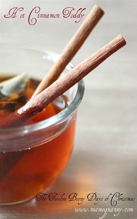 A winter drink that will warm you through and through. This hot cinnamon toddy is a nice spin on the classic cocktail.