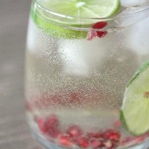 Pomegranate Lime White Wine Spritzer by Nutmeg Nanny