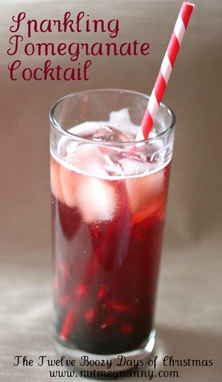 This sparkling pomegranate cocktail is the perfect holiday drink. Full of pomegranate juice, fresh pomegranate seeds, vodka and just a touch of seltzer water.