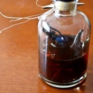 This homemade barrel aged vanilla extract gives your homemade vanilla extract a pop of bourbon barrel flavor. Easy to make and packed full of vanilla bean flavor.