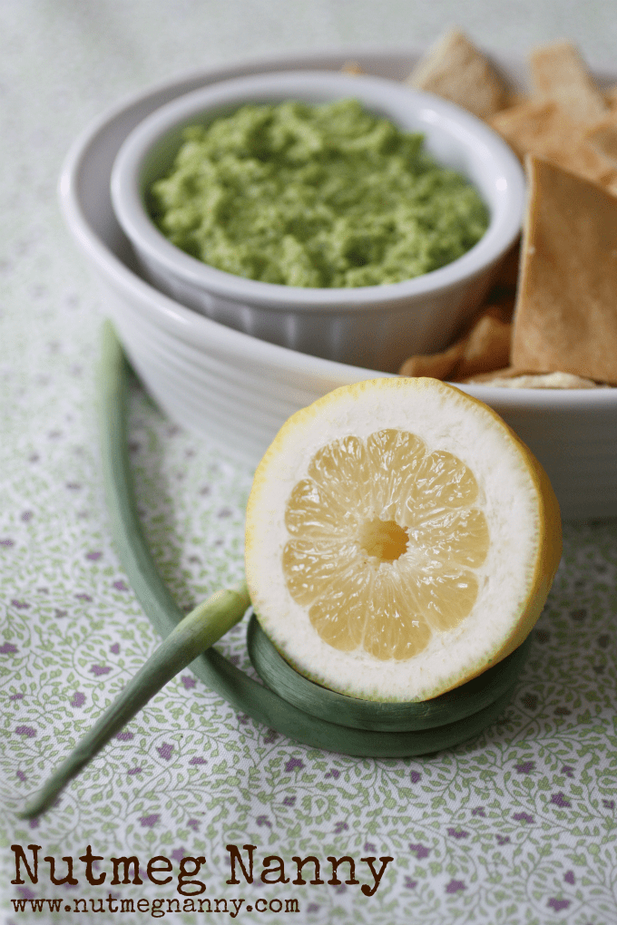 This edamame garlic scape hummus is crazy delicious and perfect for all those spring garlic scapes. Perfect for dipping with vegetables or pita chips.
