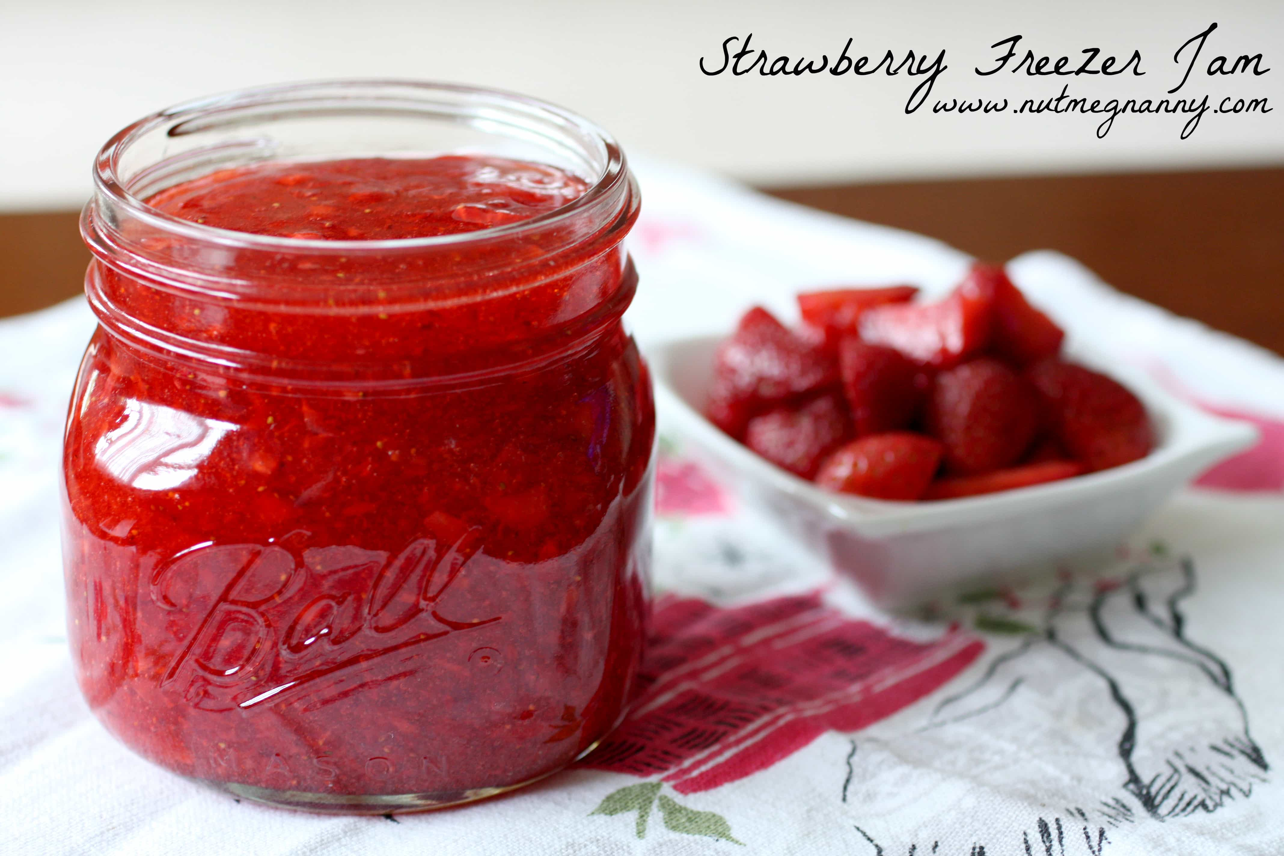 Strawberry Freezer Jam | Nutmeg Nanny