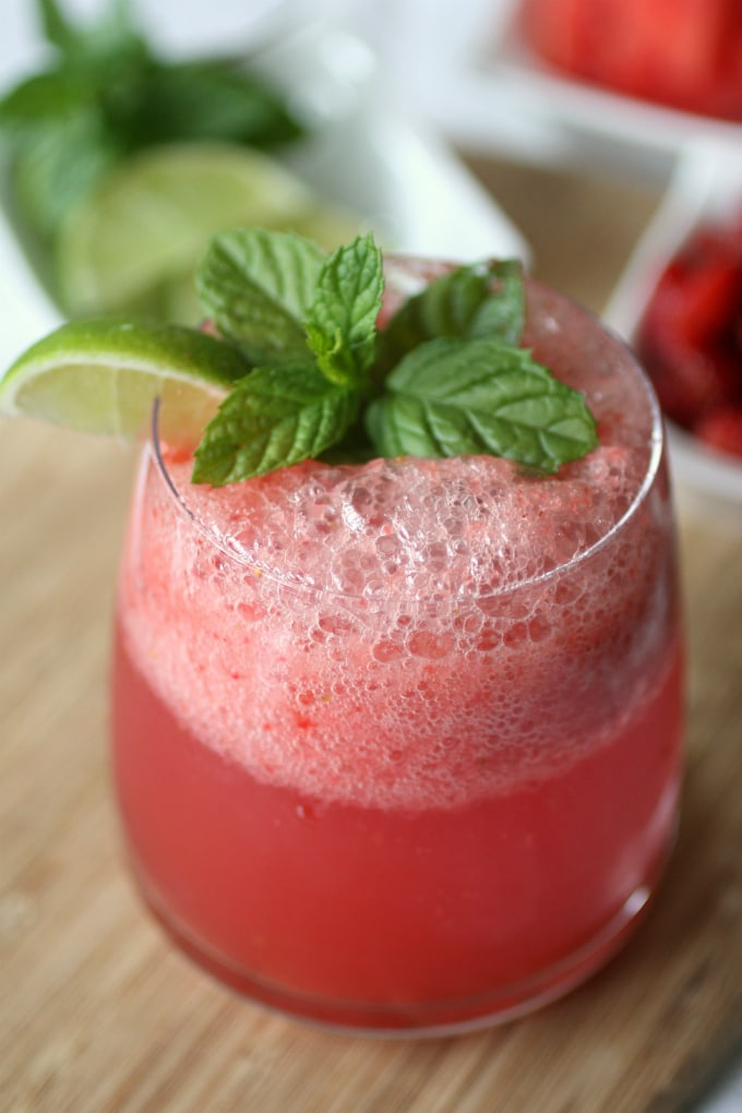 Strawberry Watermelon Agua Fresca by Nutmeg Nanny
