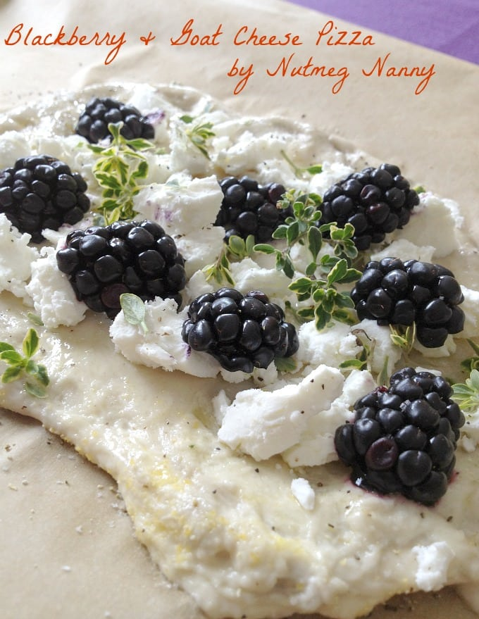 This blackberry goat cheese pizza is the perfect combination of sweet and savory. It's perfect for a light lunch or even a delicious appetizer.