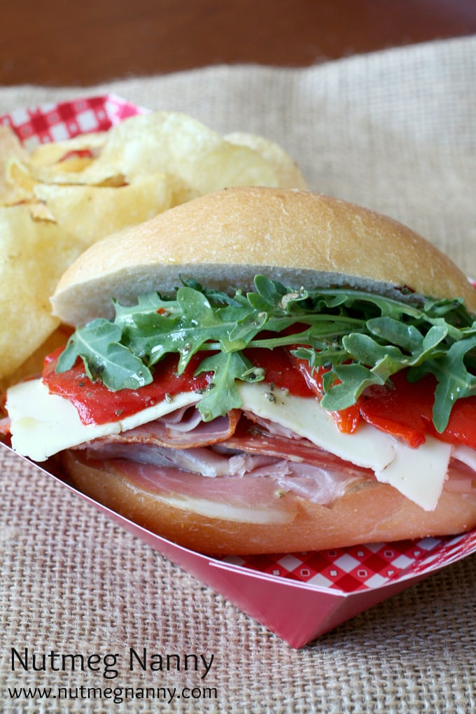 Italian Mini Sub Sandwiches with Homemade Sub Sauce by Nutmeg Nanny