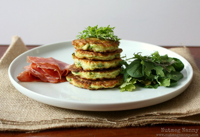These summer squash pancakes with creamy goat cheese dressing are the perfect addition to your summer menu. I like to serve these as an appetizer but when served with salad they make a fantastic summer meal. Trust me, if you love summer squash and goat cheese this dish is for you!