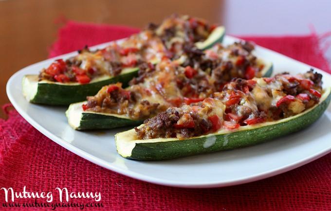 Chipotle Stuffed Zucchini Boats | Nutmeg Nanny