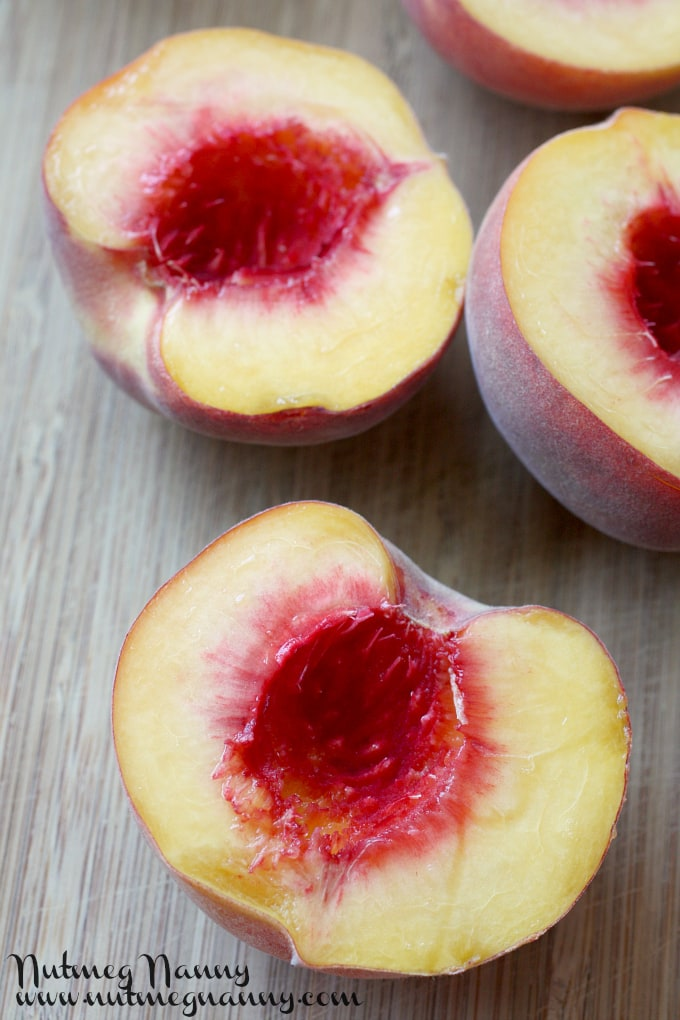 Grilled Peaches with Brown Sugar Sauce by Nutmeg Nanny
