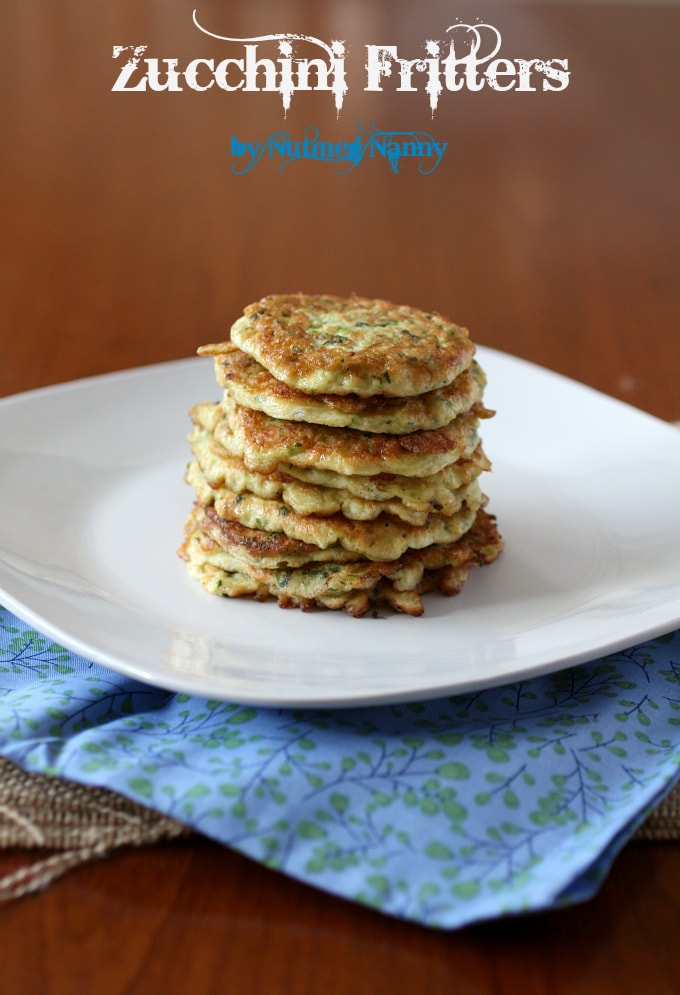 These zucchini fritters are super easy to make and are perfect as an appetizer, a light dinner or even a side dish. Time to use up that summer zucchini!