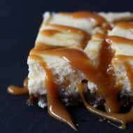 Gingersnap Plum Swirled Cheesecake Bars by Nutmeg Nanny