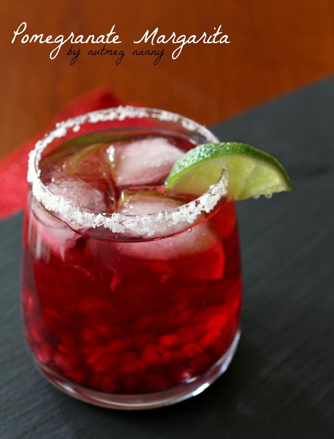 Pomegranate Margarita {Boozy Days of Christmas}   Nutmeg Nanny